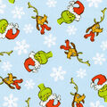 Christmas Cotton Fabric-Grinch And Max Flakes