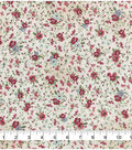 Keepsake Calico Cotton Fabric -Dainty Pink Blue Floral