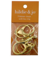 hildie & jo 3 Pack Lobster Clasps with Rings-Gold, , hi-res
