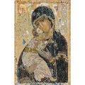Thea Gouverneur counted-cross-stitch Kit Our Lady Of Vladmir On Aida