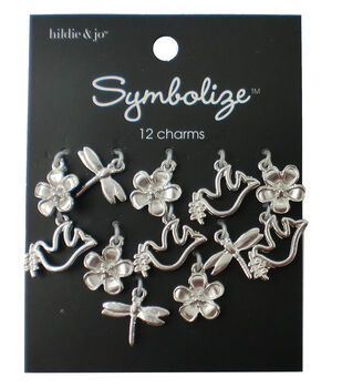 hildie & jo Symbolize 12 Pack Nature Silver Charms