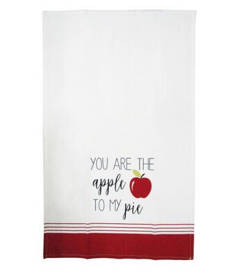 Simply Autumn Cotton Tip Towel-You are the Apple to My Pie