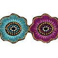 Simplicity Trims-1 3/4\u0022 Circle Floral Chain Turquoise Purple 3Ft