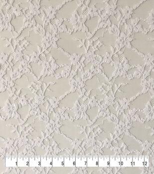 Bridal Lace Fabric-Bright White