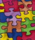 Anti-Pill Fleece Fabric 58\u0027\u0027-Jigsaw Puzzle