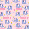 Snuggle Flannel Fabirc-Mommy and Me Elephant