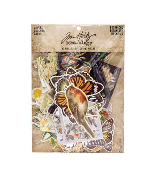 Tim Holtz Idea-ology Pack of 83 Botanical Layers
