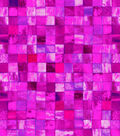 Snuggle Flannel Fabric -Pink Watercolor Tile