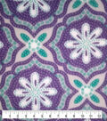 Anti-Pill Fleece Fabric -Purple Floral Medallion