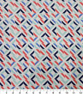 Quilter\u0027s Showcase Cotton Fabric-Broken Squares Red Navy