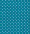 Quilter\u0027s Showcase Cotton Fabric -Pin Dots on Turquoise
