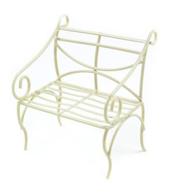Midwest Design Mini Garden Cream Iron Bench