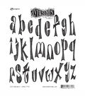 Dyan Reaveley\u0027s Dylusions Cling Stamp Collection-Dy\u0027s Alphabet