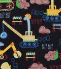 Snuggle Flannel Fabric -Construction Dinos