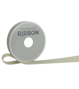 """Decorative Ribbon 5/8"""" Burlap Ribbon-Ivory"""