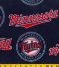 Minnesota Twins Fleece Fabric 58\u0022-Tossed