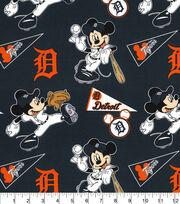 Detroit Tigers Cotton Fabric-Mickey, , hi-res