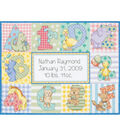 Dimensions Counted Cross Stitch Kit Zoo Alphabet Birth Record