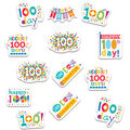Creative Teaching Press Happy 100th Day Stickers 12 Packs