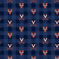 University of Virginia Cavaliers Fleece Fabric-Buffalo Plaid