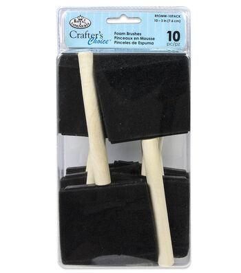 Royal & Langnickel Foam Brushes 10pk