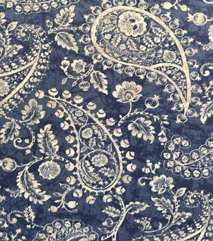 387e16e9a64 Knit Fabric 57''-Medium Paisley on Blue & White Cracked