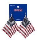 hildie & jo Patriotic Jewelry Flag Earrings