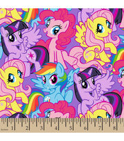 Hasbro My Little Pony Packed Ponies Cotton Fabric, , hi-res
