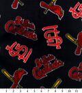 St. Louis Cardinals Fleece Fabric 58\u0027\u0027-Tossed Print