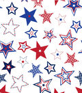 Patriotic Cotton Fabric 44\u0022-Patterned Stars