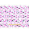 Snuggle Flannel Fabric 42\u0022-Hearts In Dots Pink Gray