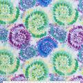 Snuggle Flannel Fabric-Blue & Green Tie Dye