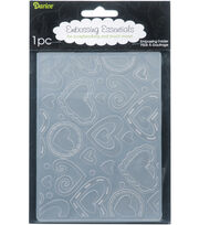 "Embossing Folder 4.25""X5.75""-Layered Hearts, , hi-res"