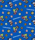 Nintendo Super Mario Print Fabric by Springs Creative-Pixelated