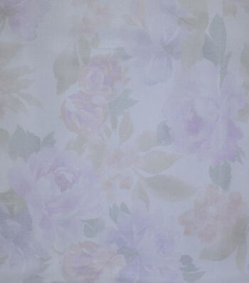 Gianna Printed Organza Fabric 54''-All Over Floral on White