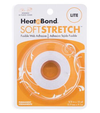 "HeatnBond Soft Stretch Lite Iron On-Adhesive Tape 5/8""x10yds"