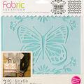 Fabric Creations Adhesive Stencil 6\u0022X6\u0022-Butterfly