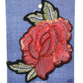 Fab Lab Sequined Rose Iron-on Applique