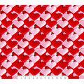 Valentine\u0027s Day Cotton Fabric-Photoreal Card Hearts