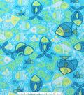 Anti-Pill Fleece Fabric 59\u0022-Blue Green Fish