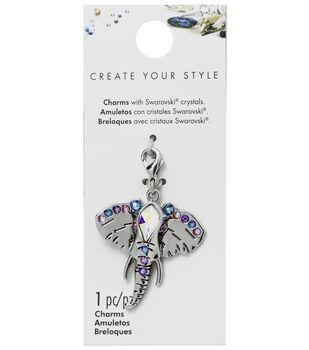 Swarovski Create Your Style Elephant Charm-Multi Crystals
