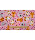 Anti-Pill Fleece Fabric -Happy Kitty