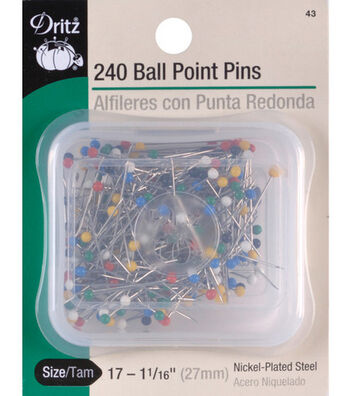 "Dritz 1.06"" Steel Colorball Pins 240pcs Size 17"