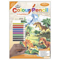 Royal Brush 8-3/4\u0022x11-3/4\u0022 Colour Pencil By Number-Dinosaurs Day