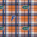 University of Florida Gators Fleece Fabric -Plaid