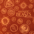 Fantastic Beasts Flannel Fabric -Secret Society