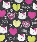 Snuggle Flannel Fabric -Whiskers Orchid