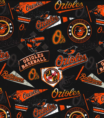 6 Baltimore Orioles O/'s Rare OOP Fabric Applique Iron On Ons