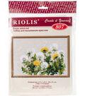 RIOLIS 11.75\u0027\u0027x8.25\u0027\u0027 Counted Cross Stitch Kit-Dandelions