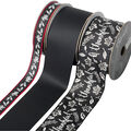 Cascade Chalkboard 3 pk Ribbons-Black & White